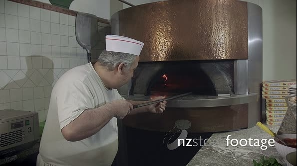 Portrait Man At Work Cook Pizza Restaurant Kitchen Food Italy 12879