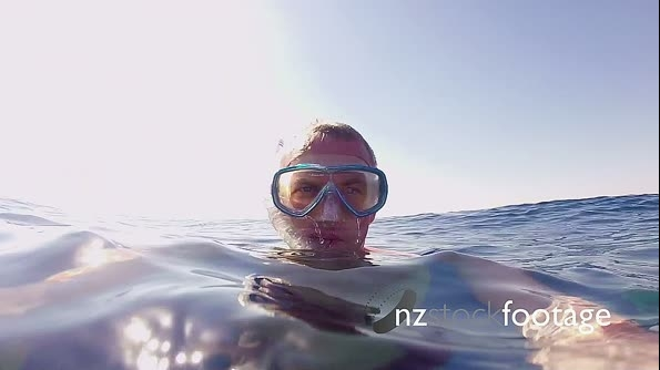 Man Swimming And Snorkeling Near Coral Reef In Red Sea 13106