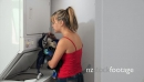 Woman Washing Dirty Clothes In Laundry Machine 13308