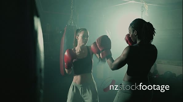 MSL Two Female Boxers Training 14334