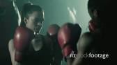 MS Two Female Boxers Training 14343