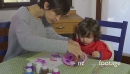 Home Fun With Happy Mom And Daughter Playing And Painting 14438
