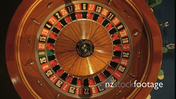 Birdseye MCU of Roulette Wheel Spinning 14729