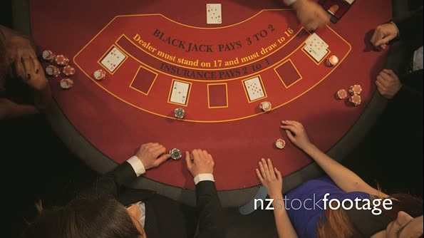 Birdseye Zoom of Players Gambling in the Casino 14730