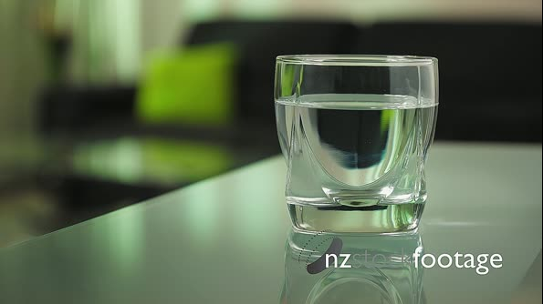 Sick Woman Puts Effervescent Tablet Aspirin In Glass Of Water 14838