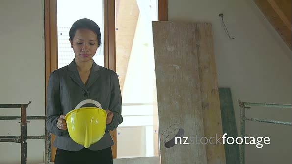 Asian Woman Portrait Engineer Architect In Construction Site 15723
