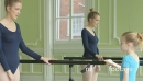 MS Female Ballet Dancer supervises a younger Ballerina and teach 16341