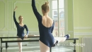 MS Female Ballet Dancer stretches and practices arabesque 16386
