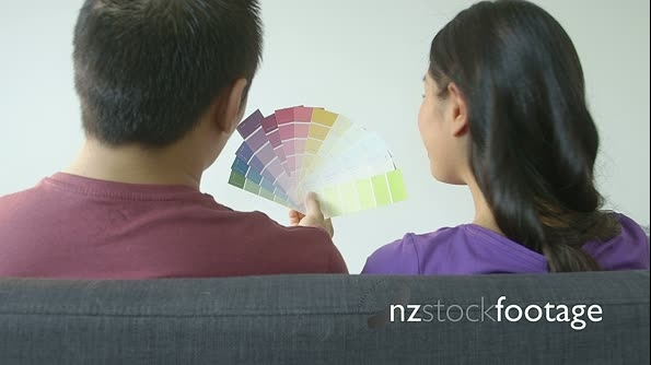 Young couple choosing Colour Swatch 16921
