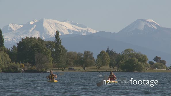Canoes on Lake Taupo 2 1722