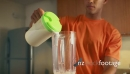 1 Man Athlete Prepares Protein Milk Shake At Home 17890