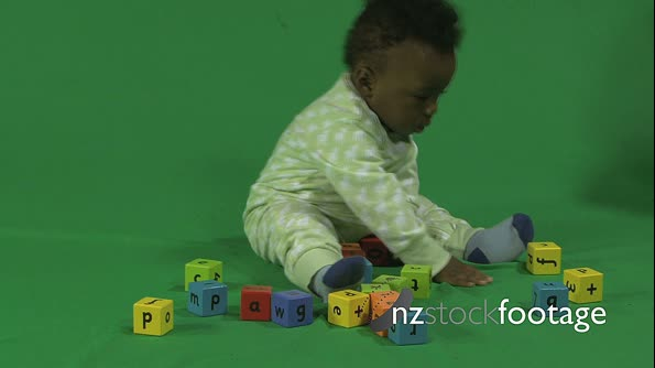 LS OF A BABY PLAYING WITH BUILDING BLOCKS 18001. Click to view...