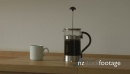 MS TIMELAPSE OF A FRENCH PRESS AND COFFEE CUP 18322