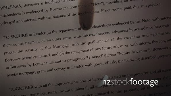 1 Mortgage Agreement Contract Burning On Fire In Slowmotion 18467
