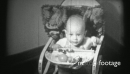 (1940's 8mm Vintage) Baby Bouncing in Chair - 3 Clips 19114