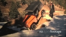 (8mm Vintage) 1968 Jeep Stuck in Hole Rescued by Tow Truck 19479