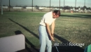 (8mm Vintage) 1971 Man At Driving Range 19494
