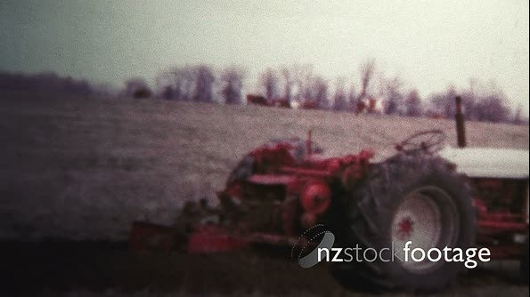 1957 - Tractor Digging Trenches For Pipes 19597
