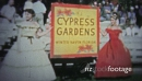 CYPRESS GARDENS, USA - 1957: Swimsuit showcase of the young and fashionable folks of the time. 19817