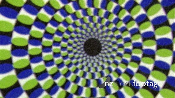 Vintage Green Blue Whirlpool Spiral  Animation Background 19880