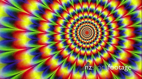 Hippy Tie Dyed Radial Pattern Animation Background 19915