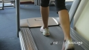Feet running treadmills cardio workout exercise in gym 20477