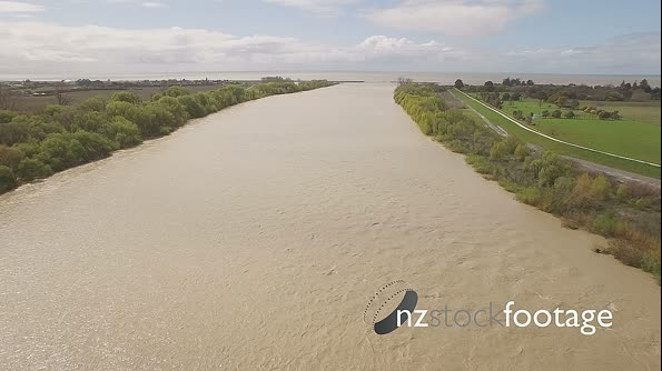 Dirty flooded river aerial HD 20825
