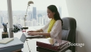 7 Business Woman Secretary Typing Fast On Laptop In Office 20901