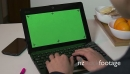 Pc Computer Green Screen Monitor Businesswoman Working Typing On Keyboard 20926
