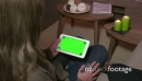Tablet Ipad Green Screen Monitor For Internet Woman At Home 20937