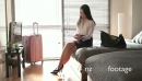 Asian Female Manager Woman Businessswoman With Tablet In Hotel Room 20939