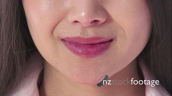 Kiss Close-up Of Mouth Beautiful Happy Asian Woman Kissing Smiling 20947