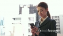 Young Asian Woman Texting Message With Phone Smartphone Internet Email 20967