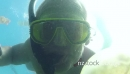 Man Free Diving In Jellyfish Lake Palau Micronesia Pacific Ocean 20973