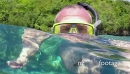 Man Snorkeling Swimming Diving In Sea Palau Micronesia Pacific Ocean 21116