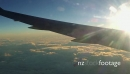 Flight over the ocean above cloud cover 22114