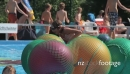 Kids Playing On Big Balls In A Swimming Pool 22461