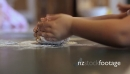 Kids kneading dough in a Kindergarten 22472