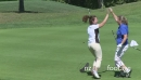 Female golfer sinks putt 23522