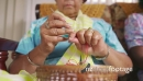 4-Senior Woman In Hospice Knitting Whool 23743