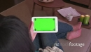 Ipad Tablet Green Screen Monitor Pc Computer Electronics Woman People 23801