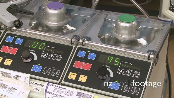 Heart lung bypass equipment in use 23843