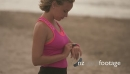 Girl Using Fitness Tracker Watch Fitwatch Steps Counter 24367