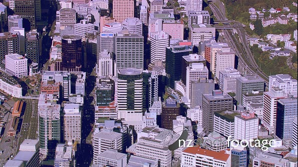 Wellington City Centre and Beehive Aerial 6 24623