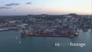 Auckland Container Port Aerial Dusk  24714
