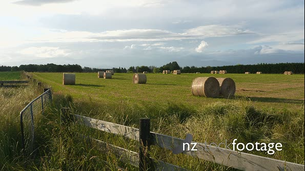 Hay Bales Farm Field Time Lapse 1 24780