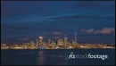 Auckland CBD Sunset Time-lapse 25367