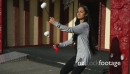 Young Maori Woman Poi Performer on Marae 4K 25578