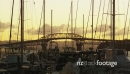 Yachts and the Auckland Harbour Bridge at Sunset 25811