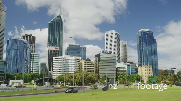 Perth in the CBD with Traffic in Time Lapse 25992